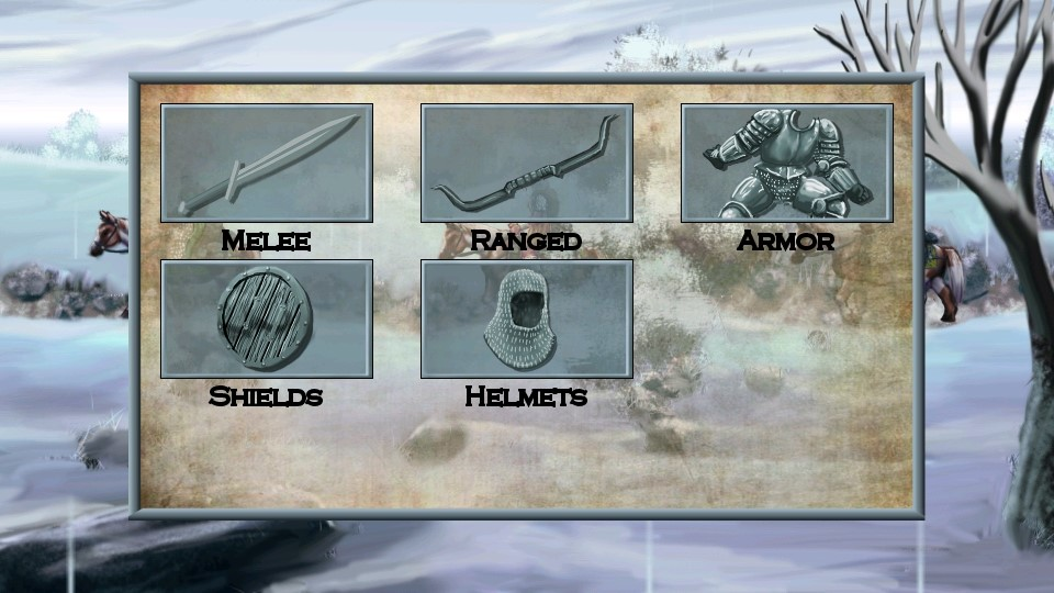 Tales of Illyria equipment menu
