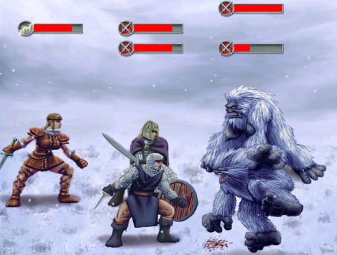 Yeti battle
