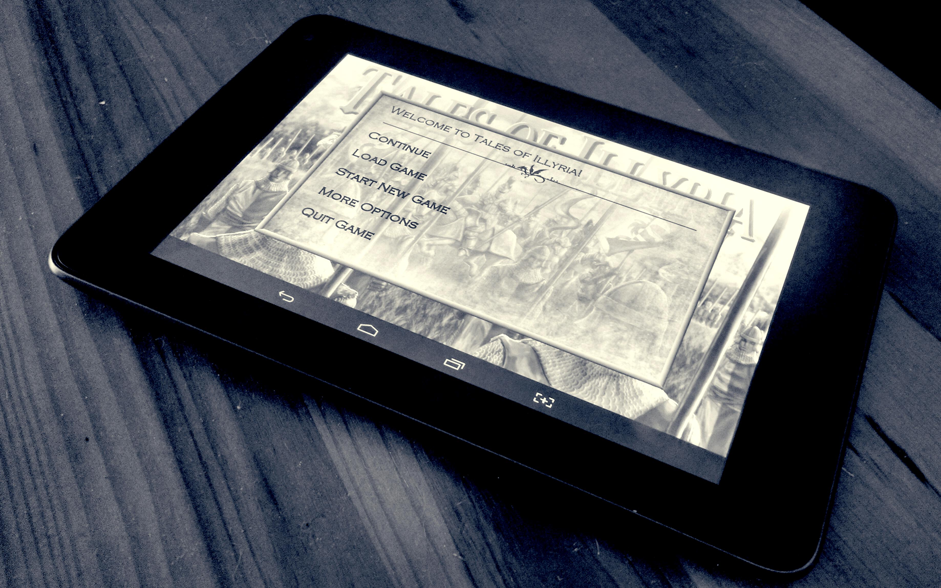Tales of Illyria on tablet
