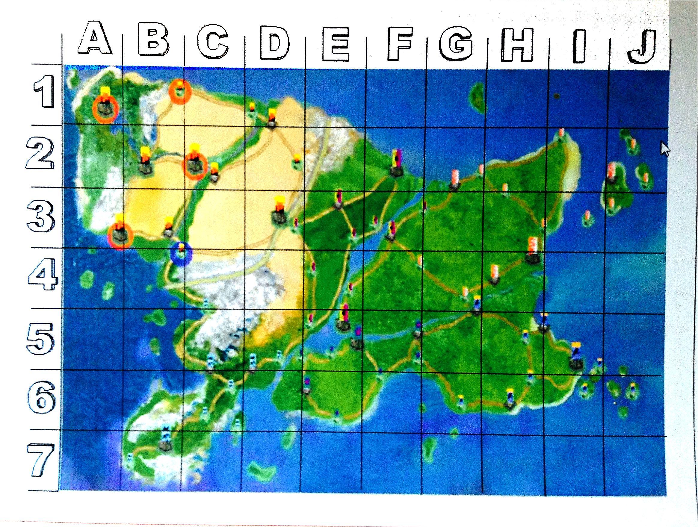 Gridded Map